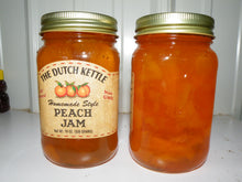 Load image into Gallery viewer, Dutch Kettle All Natural Homemade Peach Jam 19 oz Jar