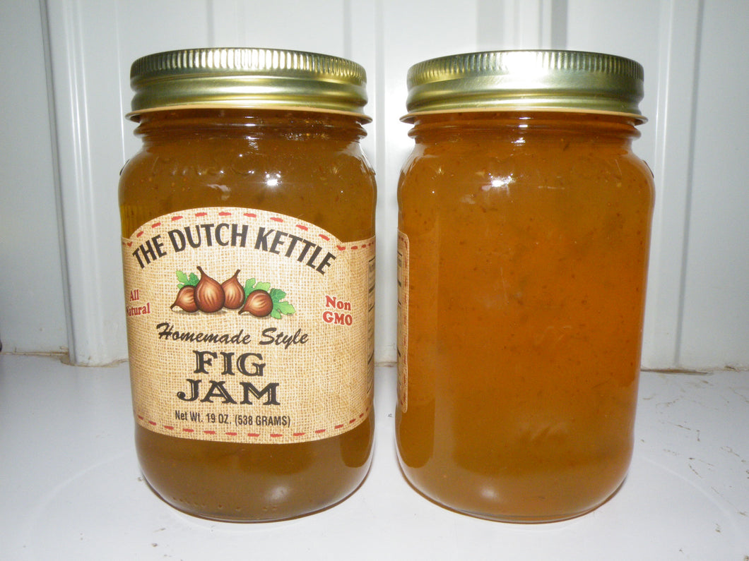 Dutch Kettle All Natural Homemade Fig Jam 19 oz Jar