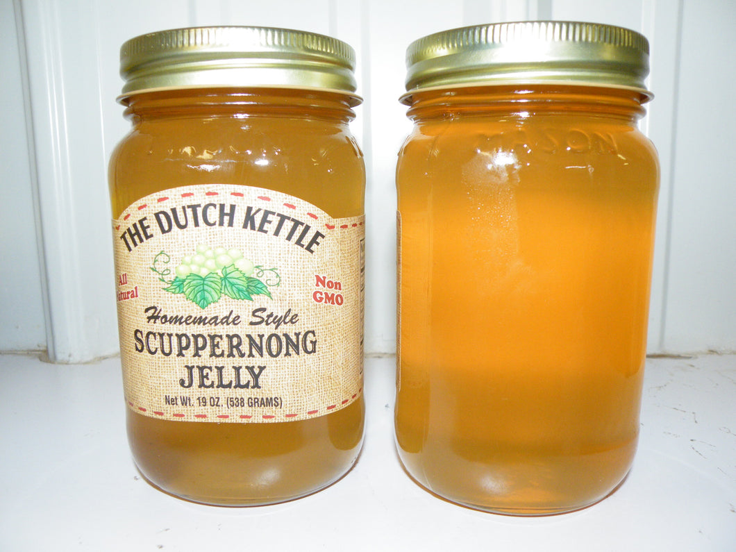 Dutch Kettle All Natural Homemade Scuppernong Jelly 19 oz Jar
