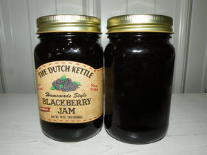 Dutch Kettle All Natural Homemade Blackberry Seedless Jam 19 oz Jar