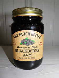Dutch Kettle All Natural Homemade Blackberry Seeded Jam 19 oz Jar