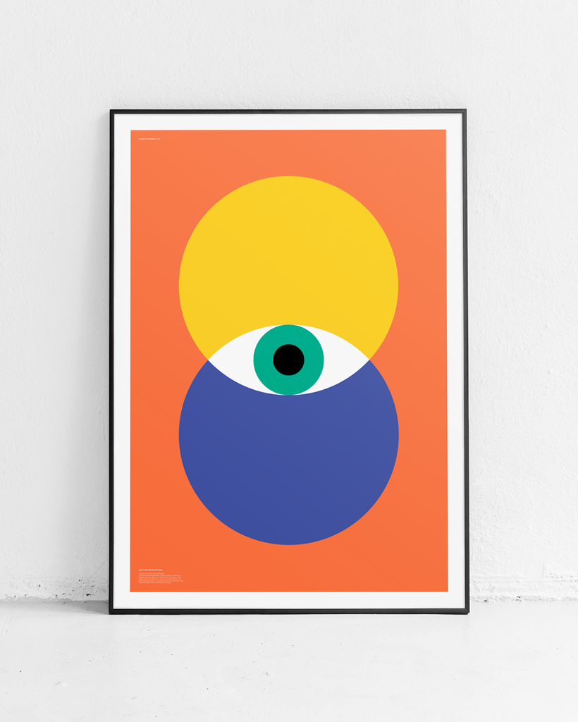 MODES OF THOUGHT 001 // KEEP YOUR EYE ON THE PRIZE - ORANGE