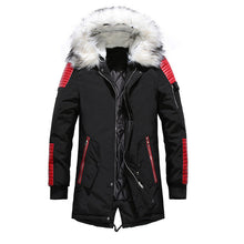 Men Fur Collar Oversized Parka