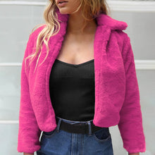 Elegant Fur Zipper Jacket