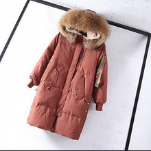 Natural Raccoon Winter Jacket