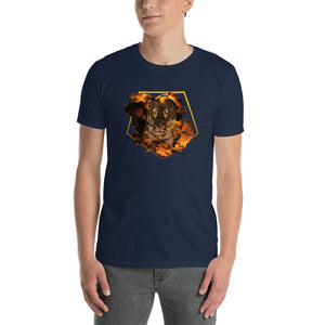 Smoking Tiger Unisex T-Shirt