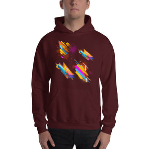 Patch of Color Hoodie Sweatshirt