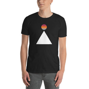 Sun And Mountain Abstract Unisex T-Shirt