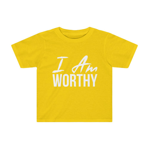 Toddler I AM WORTHY Tee - Peyticakes