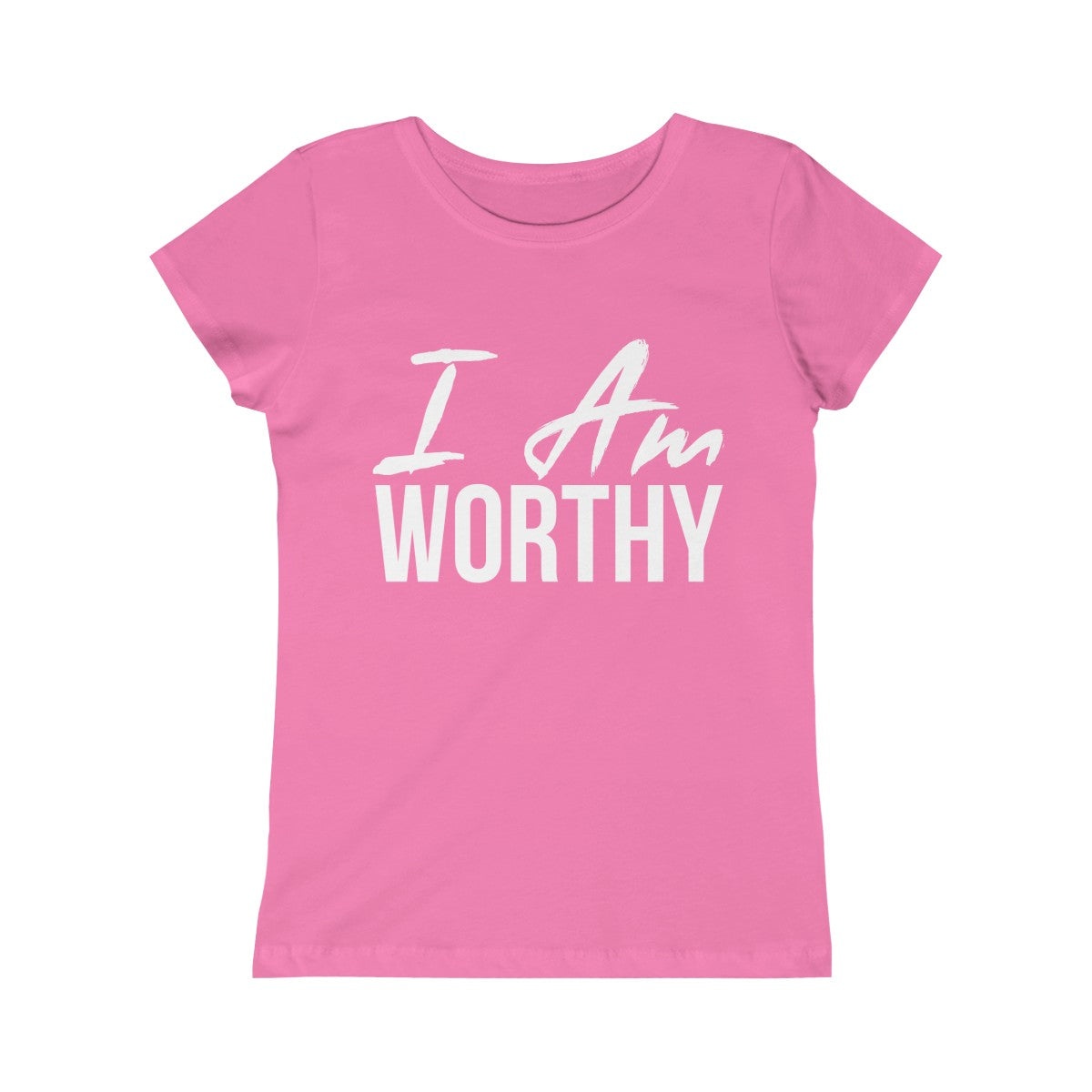 Girls I AM Worthy Tee - Peyticakes