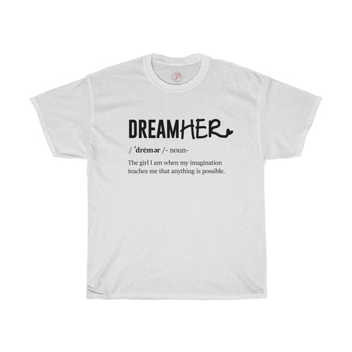 Woman definition of a DreamHER Tee - Peyticakes