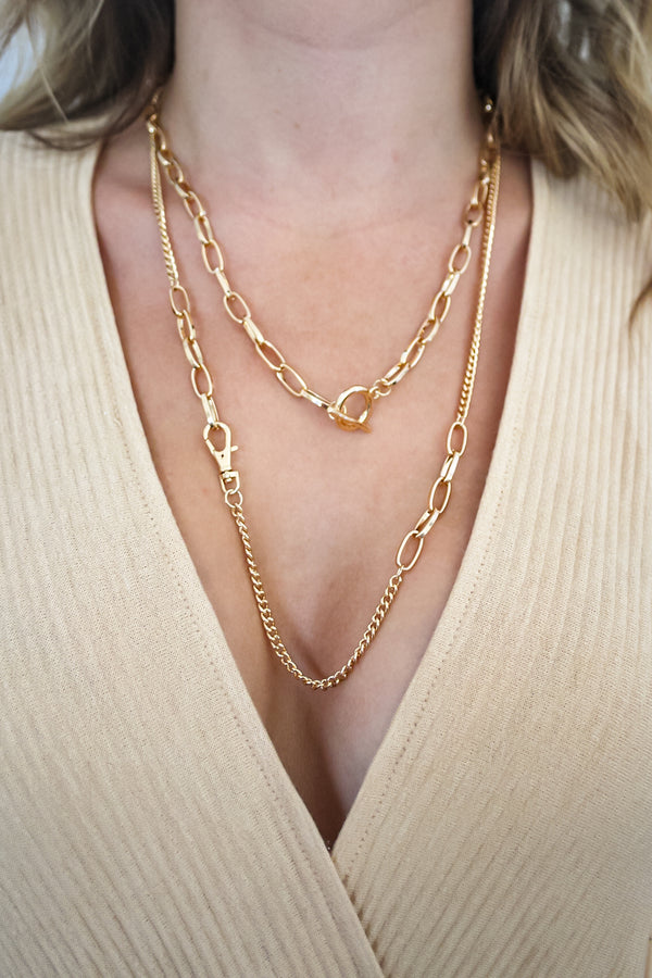 Richie Layered Chain Necklace