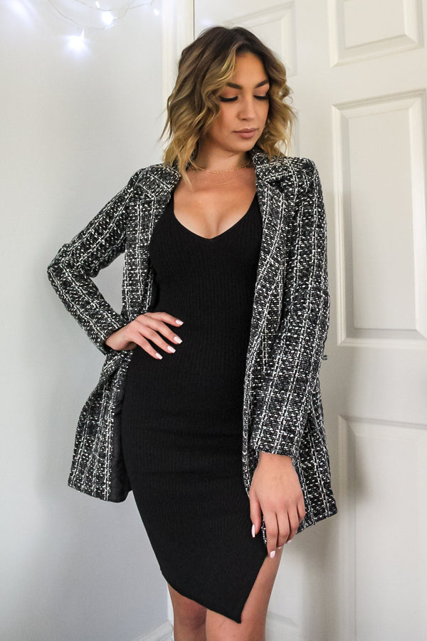 Joanna Plaid Coat