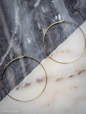 Delicate Hoop Earrings
