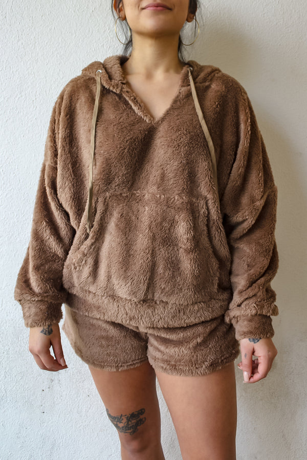 Addison Teddy Hoodie and Short Set