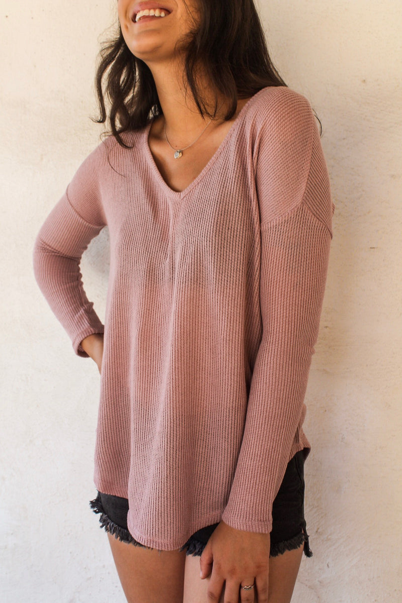 Cassie Waffle Knit Top | Diosa Life + Style | Women's Online Boutique