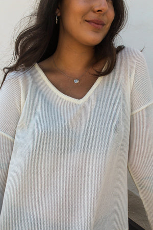 Cassie Waffle Knit Top