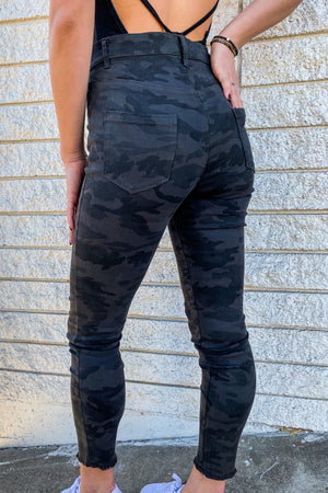 Blending In Camo Skinny Jeans