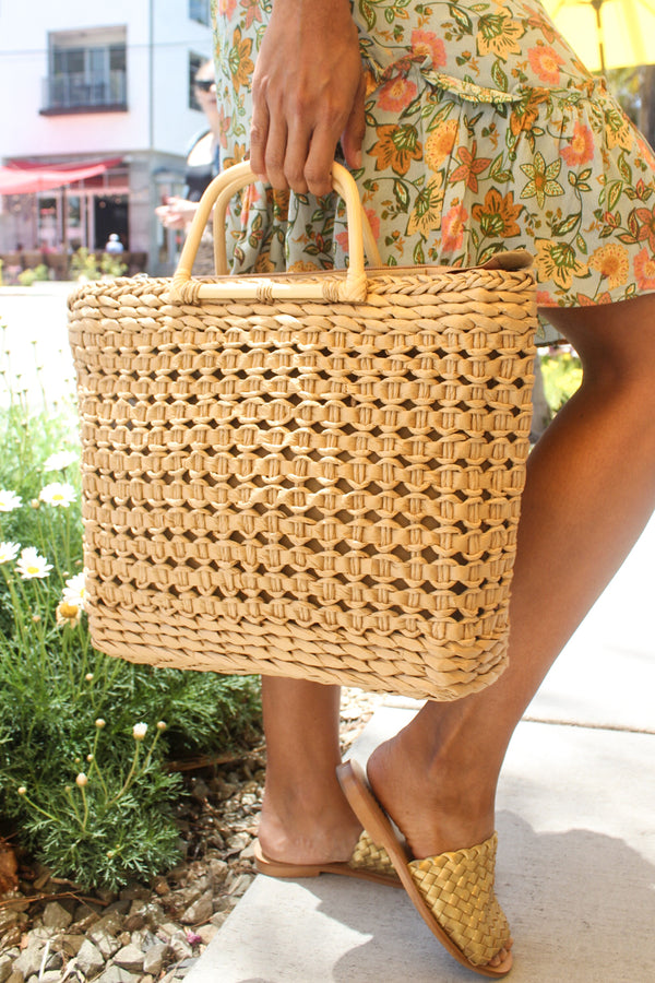 Tiucal Handmade Straw Tote Bag | Diosa Life + Style Boutique