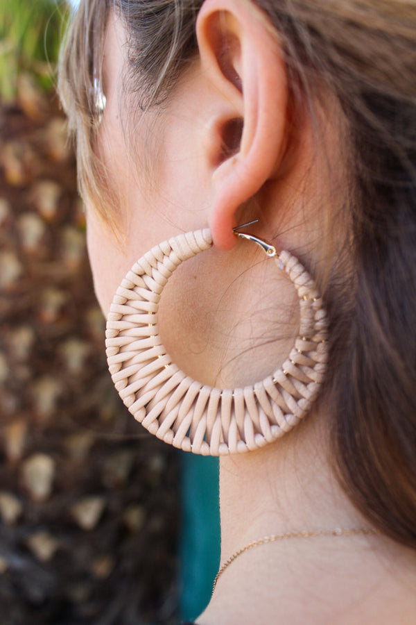 Nani Boho Braided Hoop Earrings