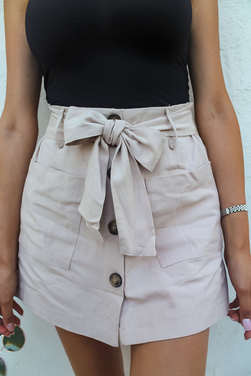 Palm Beach Linen Skort | Diosa Life + Style Boutique