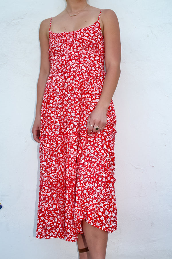 Sicily Floral Midi Dress | Diosa Life + Style Boutique