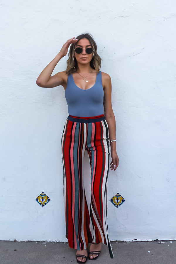 Castro Stripped Wide Leg Pant