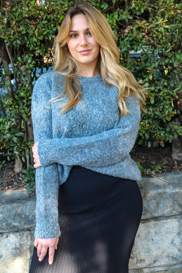 Tarah Marbled Knit Sweater