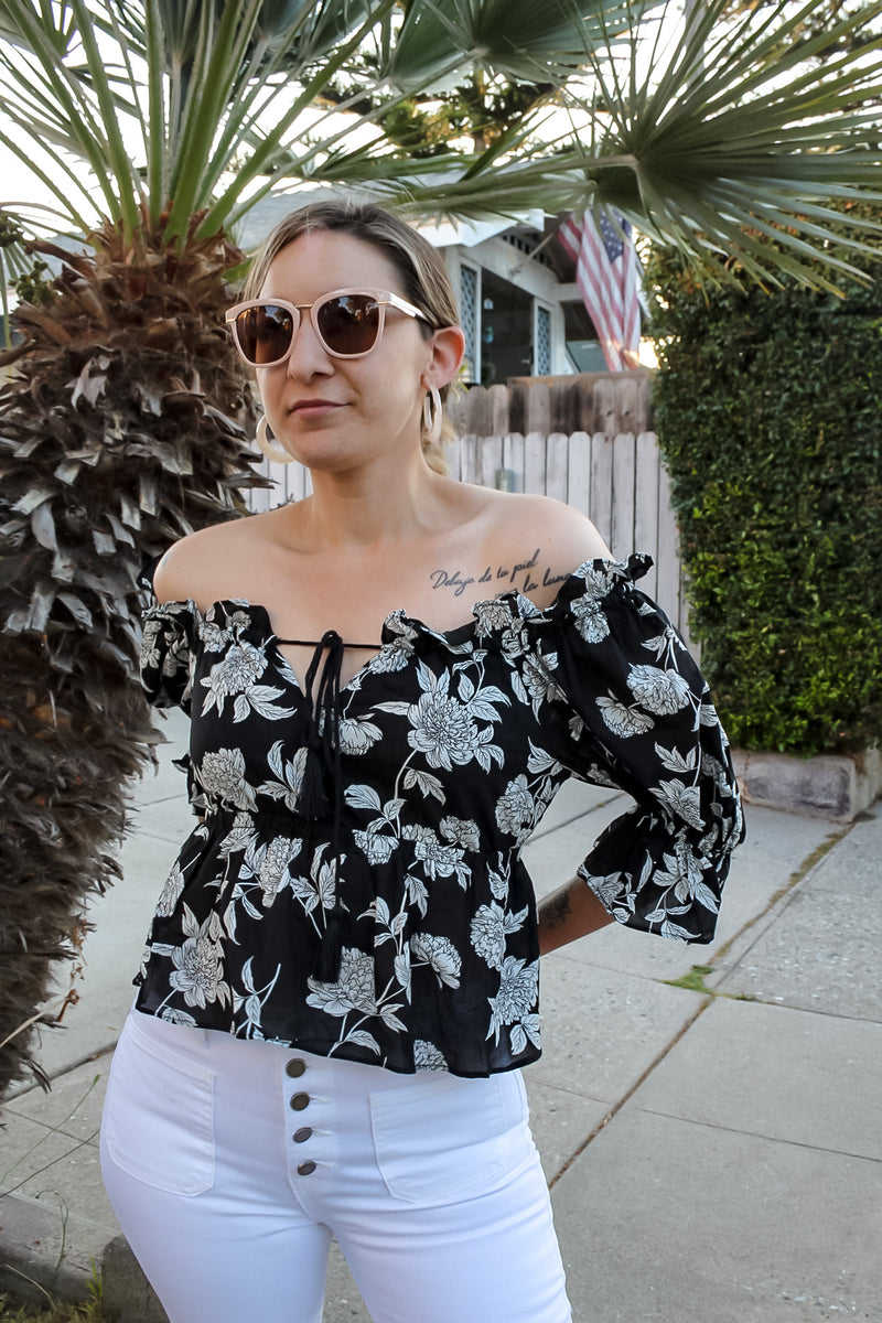 Bonita Floral Off The Shoulder Blouse | Diosa Life + Style Boutique