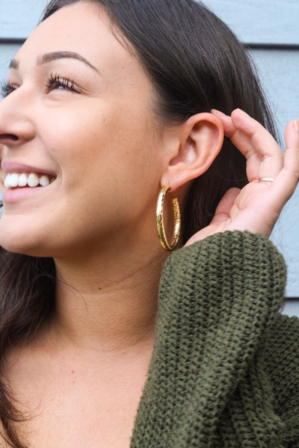 Jesse Twisted Hoop Earrings | Diosa Life + Style Online Boutique