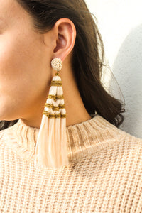 Bali Tassel Beaded Earrings