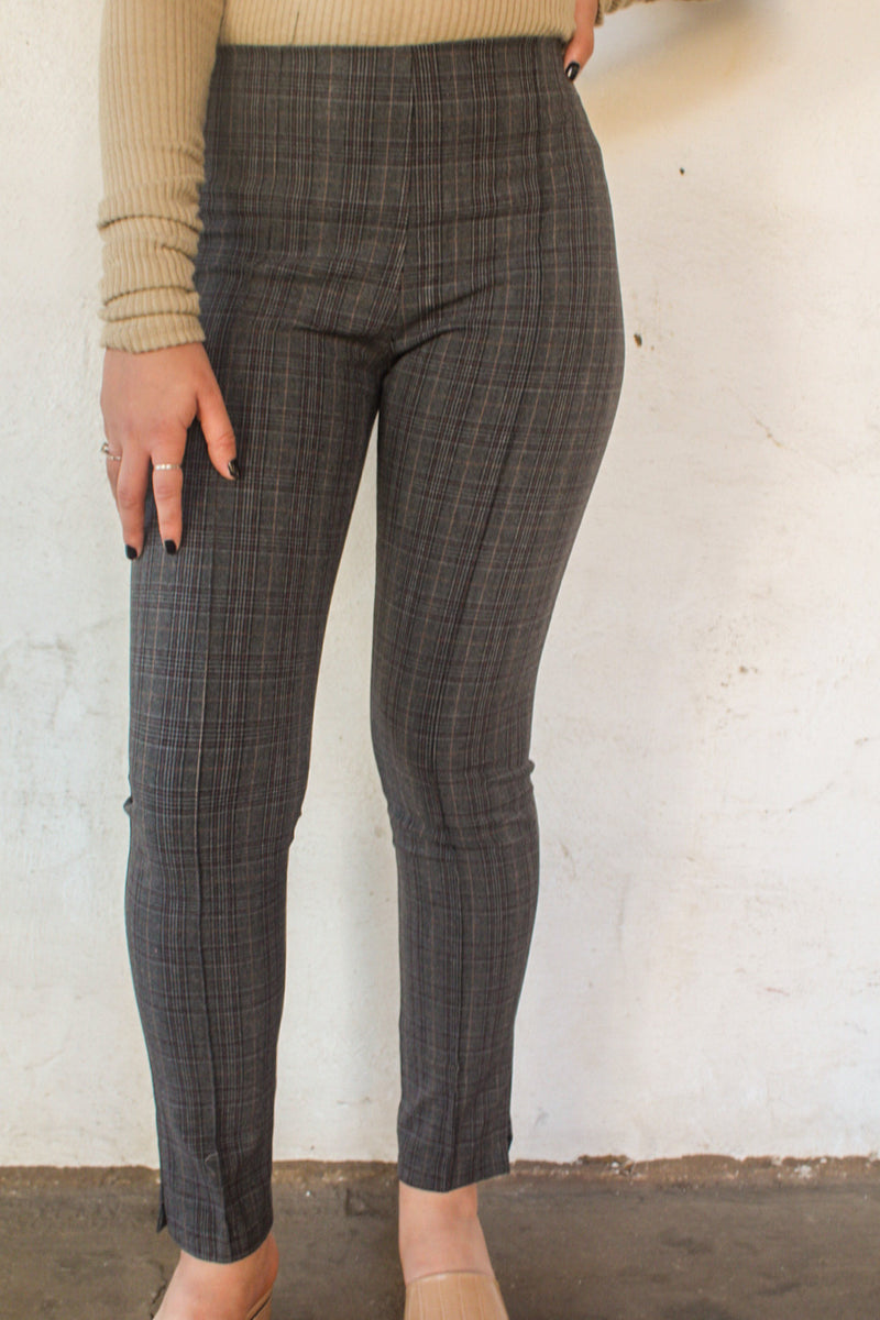 Lizzie Plaid High Waisted Pants | Diosa Life + Style Online Boutique