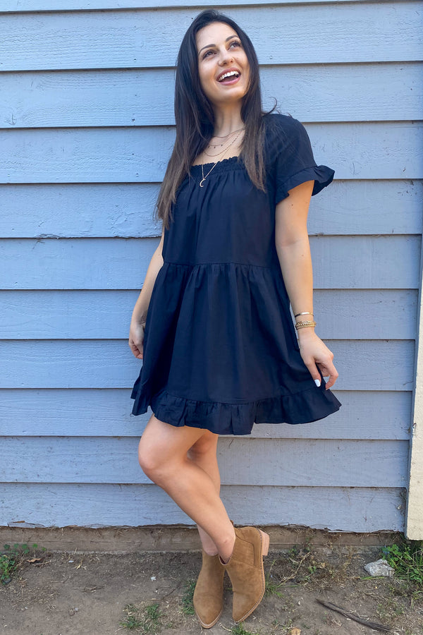 Jimena Babydoll Mini Dress | Diosa Life + Style Boutique