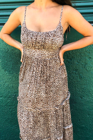 Keke Leopard Midi Dress