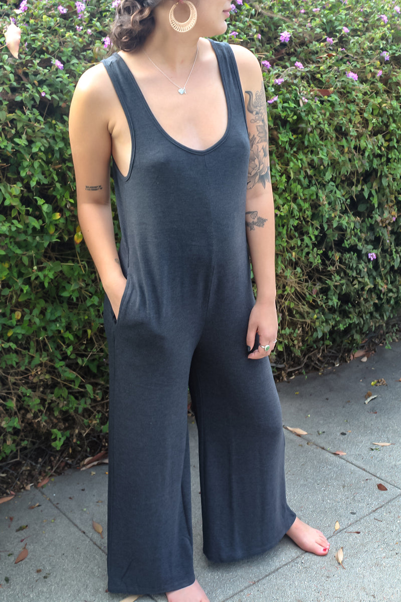 Life's A Beach Ribbed Jumpsuit