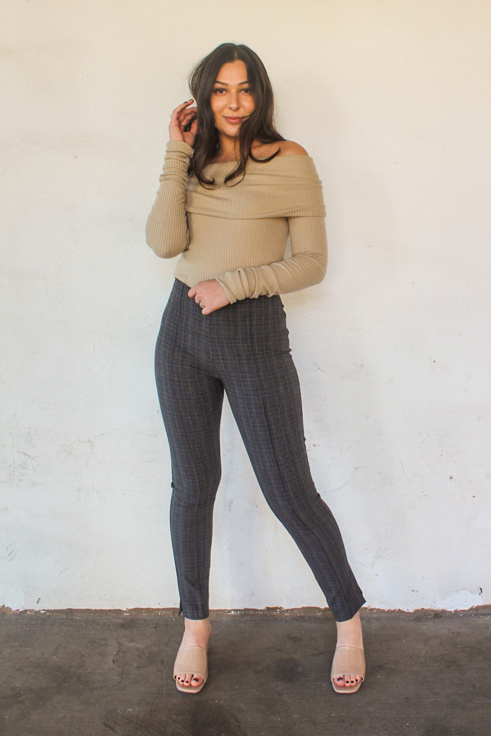 Lizzie Plaid High Waisted Pants