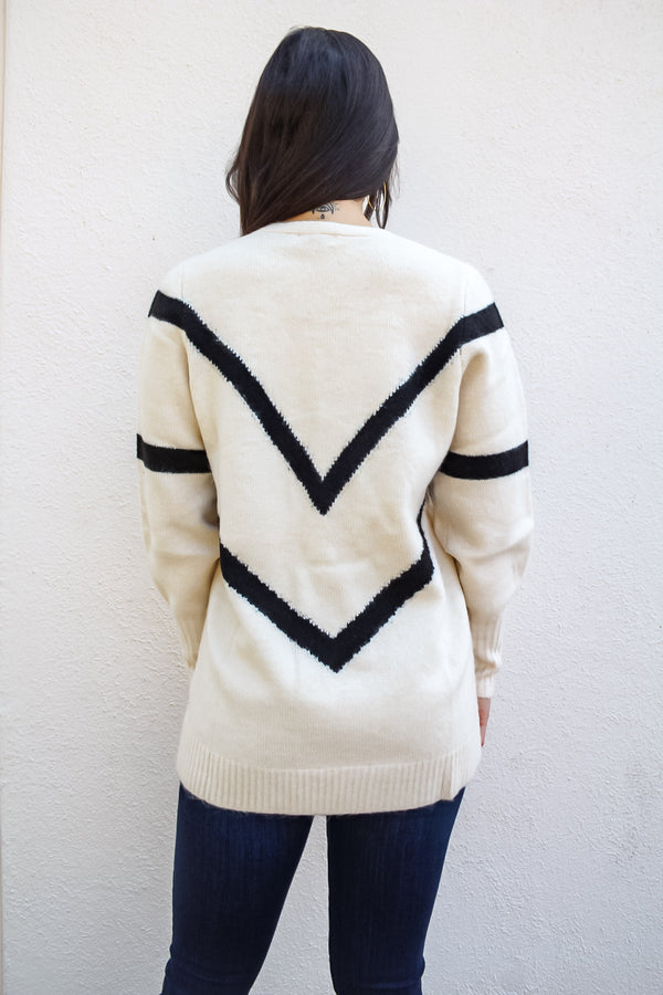 All Mine Chevron Knit Sweater | Diosa Women's Online Boutique