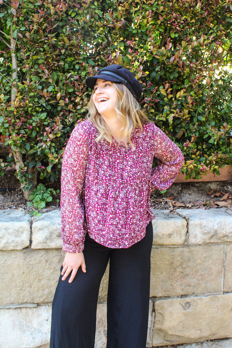Misty Day Floral Blouse | Diosa Life + Style Boutique