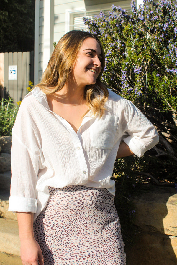 Sunstone Button Up Top | Diosa Life + Style Boutique