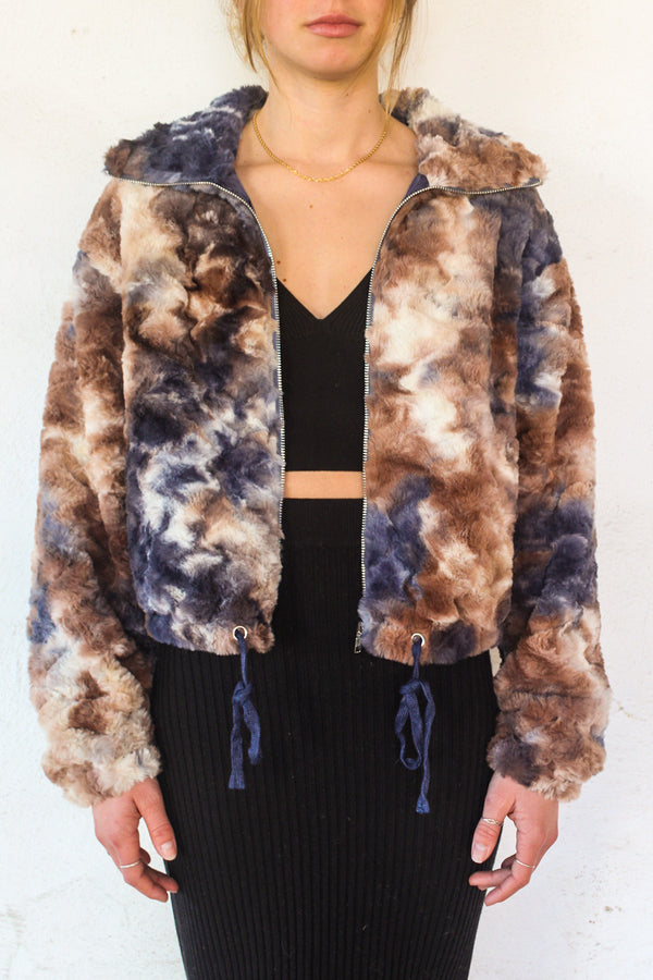 Paige Faux Fur Zip Up Jacket | Diosa Life + Style Online Boutique
