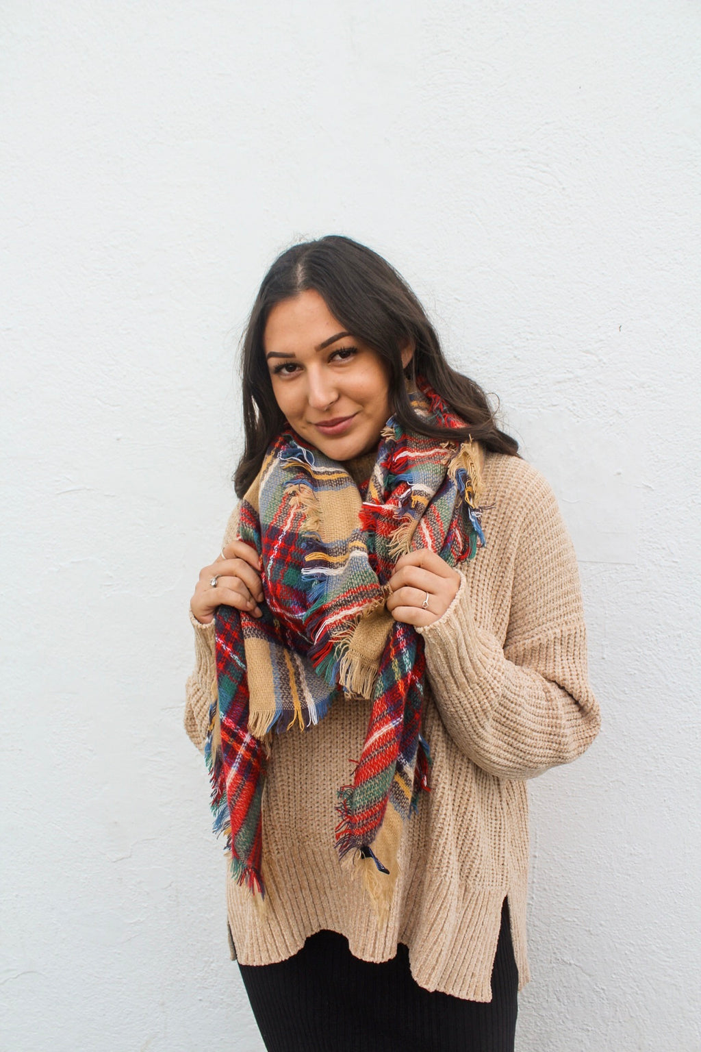 Winter Nights Plaid Scarf