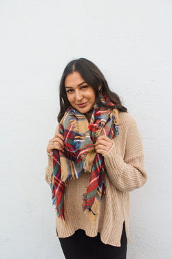 Winter Nights Plaid Scarf | Diosa Life + Style Boutique