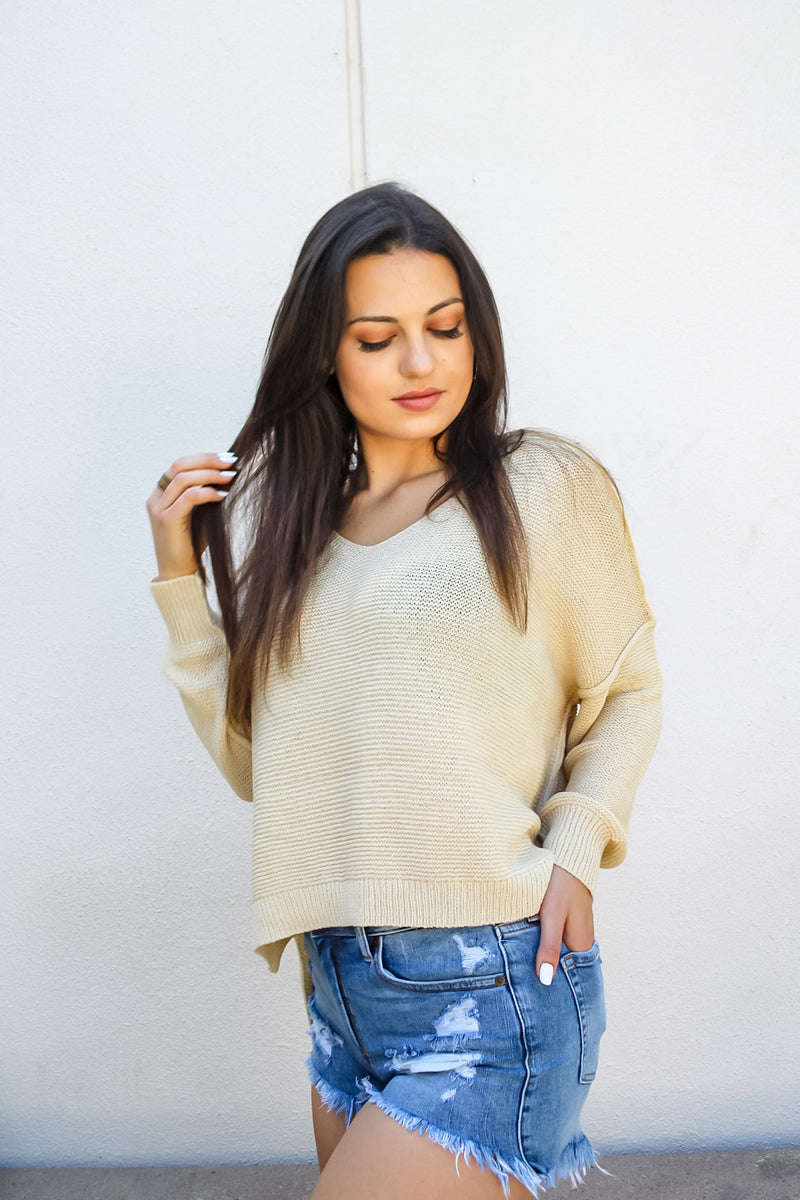 Lauren Long Sleeve Knit Top | Diosa Life + Style Boutique