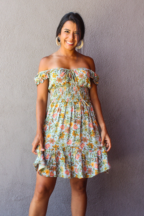Rosa Floral Mini Dress | Diosa Life + Style Boutique