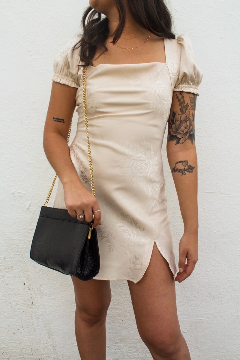 Nicole Satin Mini Dress | Diosa Life + Style Online Boutique