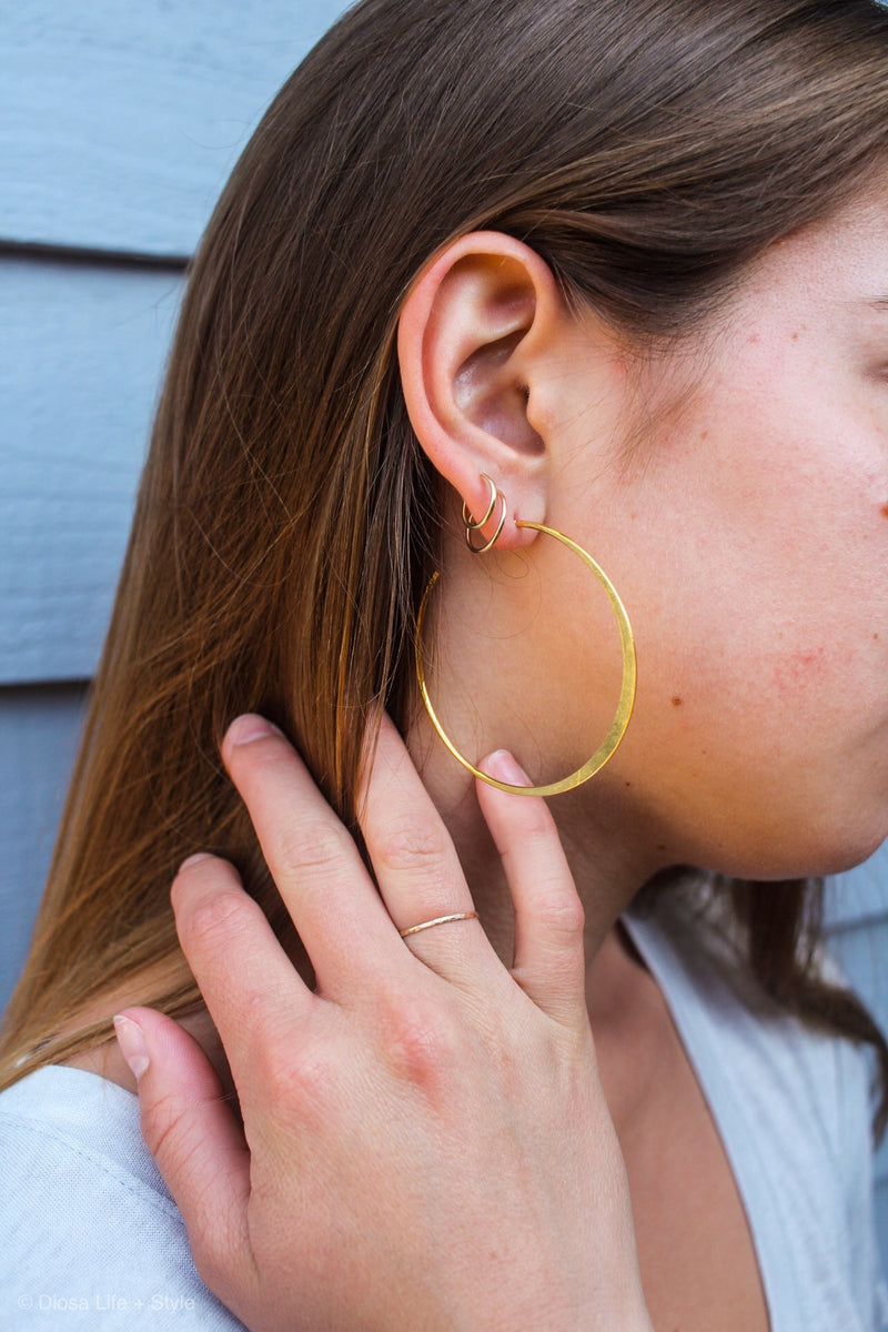 Luna Hoop Earrings | Diosa Life + Style | Women's Online Boutique