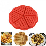 New Home Kitchen Supplies Heart Shaped Silicone Waffle Mold Maker Pan Microwave Baking Cookie Cake Muffin Bakeware Cooking Tool