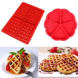 Non-stick Silicone Waffle Mold Kitchen Bakeware Cake Mould Makers for Oven High-temperature Baking Set
