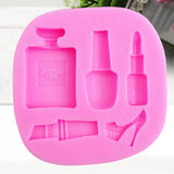 Silicone Makeup Lipstick Cake Decorating Mould Sugarcraft Chocolate Baking Mold Kitchen Accessories