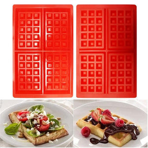 Mini Waffles Pan Cake Baking Baked Muffin Cake Chocolate Mold Tray DIY Food Grade Silicone Kitchen Accessories Waffle Mold